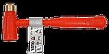 Молоток безинерционный литой с латунным бойком 300г YATO-46190, фото 2