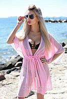 Туника халат шифоновая короткая пляжная, фото 1