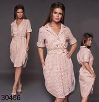 Женское летнее платье на пуговицах с цветочным принтом р. S, M, L, XL