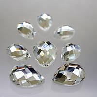 Стразы для инкрустации. цвет Crystal(стекло).Размер 7х12мм.Цена за 1шт.