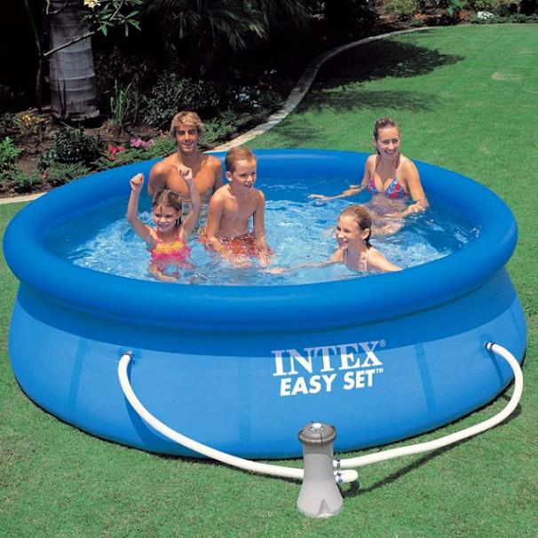 Бассейн семейный Intex 28112 с фильтр-насосом 244 х 76 см