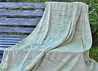 Плед короткий ворс двусторонний - Шарм - Зеленый