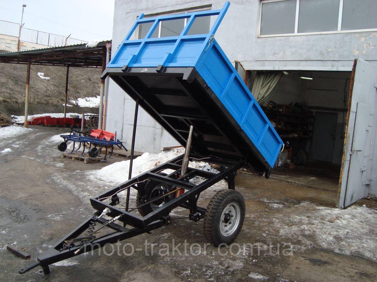 Прицеп тракторный 1ПТС-2 с тормозами (самосвальный, 2т.)