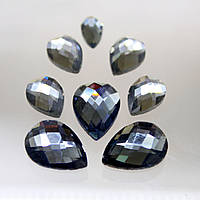 Стразы для инкрустации (стекло). Цвет Black Diamond.Размер 13х18мм.Цена за 1шт.