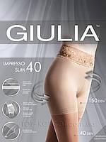 Колготки утягивающие с ажурным поясом GIULIA Impresso Slim 40