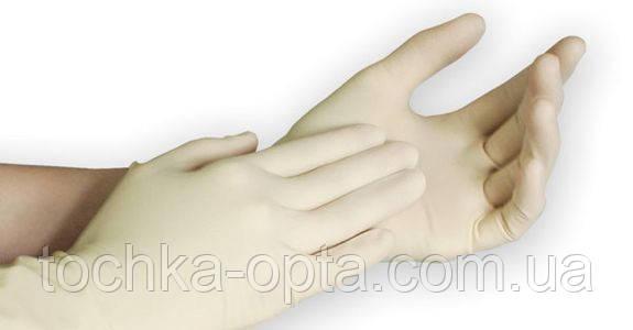 Перчатки резиновые нестерильные медицинские M. в уп. 100шт