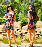 Легкое нарядное свободное летнее платье туника, размеры 42-54