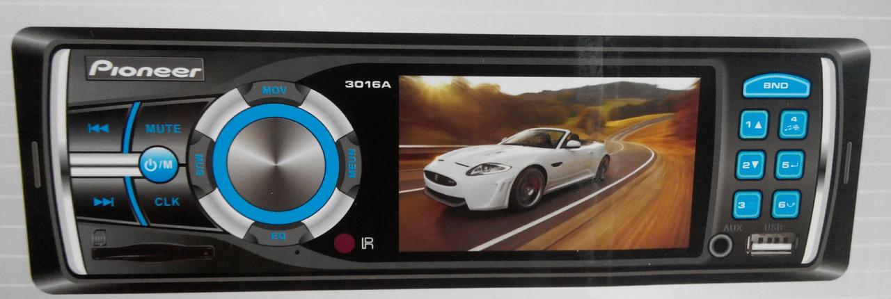 Стерео FM радио в машину Pioneer 3016a с видео автомагнитола универсальная
