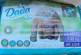Подгузники Dada 4 maxi 7-18 кг 46 шт