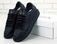 Кроссовки Alexander McQueen черные (ТОП реплика)