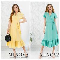 Лёгкое летнее платье с запахом с 42 по 46 размер