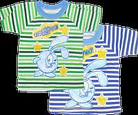 Детская футболка с принтом, хлопок (кулир), ТМ Ромашка, р. 86, 92, 98, 104, 110, 116, Украина