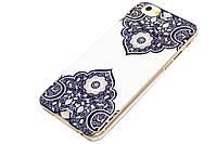 Чехол Beckberg Crystal для iPhone 6 синий орнамент