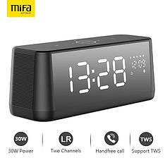 Портативная Bluetooth колонка Mifa A30 Black с будильником и часами
