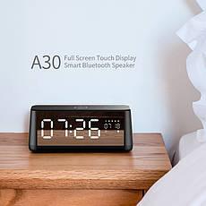 Портативная Bluetooth колонка Mifa A30 Black с будильником и часами, фото 2
