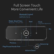 Портативная Bluetooth колонка Mifa A30 Black с будильником и часами, фото 3