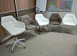 Кресло офисное на колесах LAREDO (Ларедо) кожзам белый Nicolas, фото 2