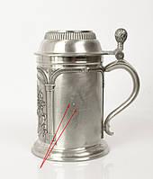 Пивной бокал, кружка, Zinn Германия, Олово, 500 мл, фото 1