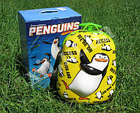 "Детский чемодан 16"" на колесах Пингвин"
