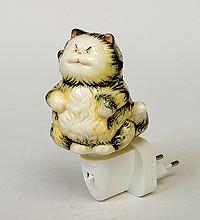 """Порцеляновий світильник (нічник) """"Кіт"""" (Pavone) JP-18/14"""