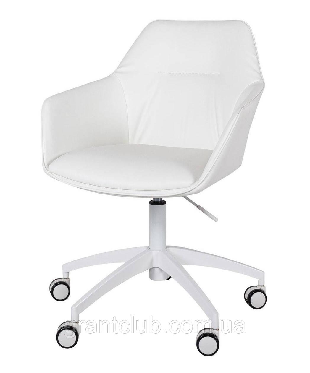 Кресло офисное на колесах LAREDO (Ларедо) кожзам белый Nicolas