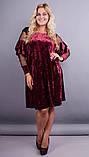 Платье Юнона бархат бордо , фото 2