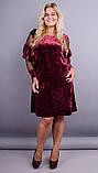 Платье Юнона бархат бордо , фото 4