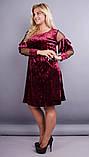 Платье Юнона бархат бордо , фото 5