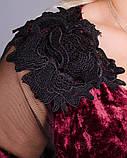 Платье Юнона бархат бордо , фото 7