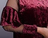 Платье Юнона бархат бордо , фото 8