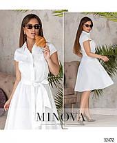 Стильное классическое летнее платье с 42 по 46 размер, фото 3
