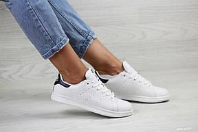 Кроссовки женские Adidas Stan Smith белые с темно синим 39р, фото 2