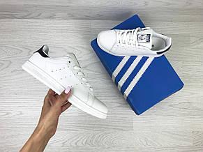 Кроссовки женские Adidas Stan Smith белые с темно синим 39р, фото 3