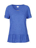 Женская футболка синего цвета Blue 1 T-shirt от Peppercorn в размере М