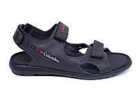 Мужские кожаные сандалии Columbia Track Black (реплика)