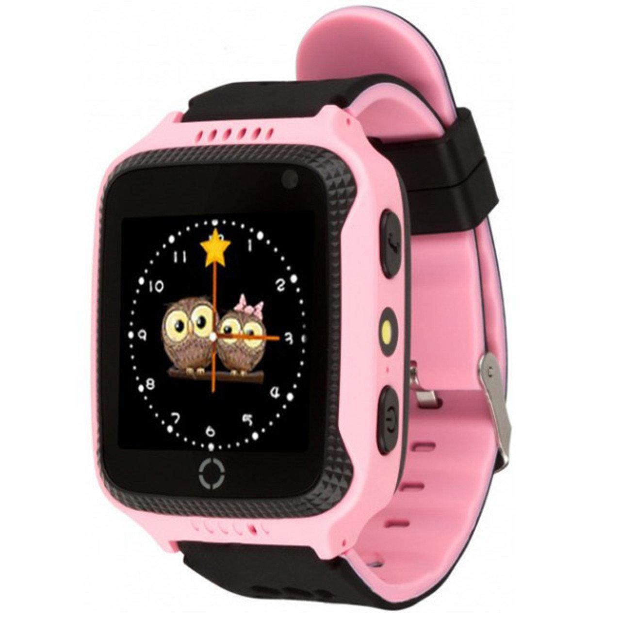 Детские умные часы с GPS Smart baby watch Q529 Pозовые + защитная пленка