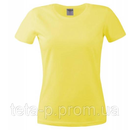 Футболка женская Keya 150G, желтый