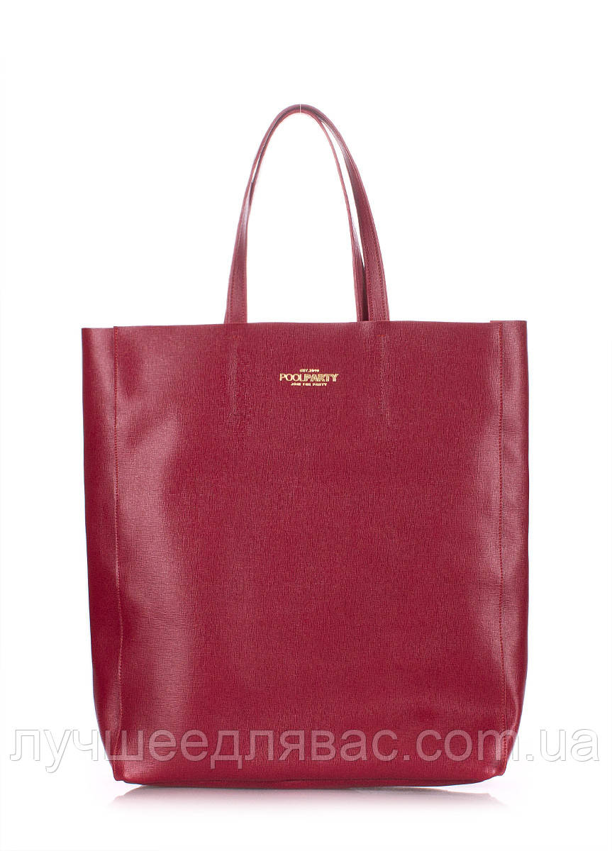 Кожаная сумка poolparty city-safyan-red-2, фото 1