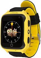Детские умные часы с GPS Smart baby watch Q529 Желтые + защитная пленка
