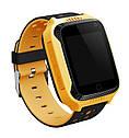 Детские умные часы с GPS Smart baby watch Q529 Желтые + защитная пленка, фото 2