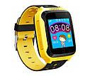 Детские умные часы с GPS Smart baby watch Q529 Желтые + защитная пленка, фото 3