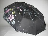 """Зонт женский с цветочным принтом №124 от фирмы """"PRINCCEC"""" на 10 стальных спиц. Ходовая расцветка."""