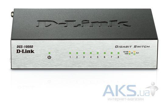 Коммутатор (свитч) D-Link DGS-1008D