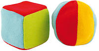 """Набор мягких игрушек  """"Кубик и мячик"""" (погремушка) 2/893 Canpol"""