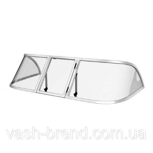 Ветровое стекло Казанка М (Стандарт П) материал ПОЛИКАРБОНАТ Kaz M Standard K