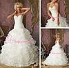 Милое свадебное платье с вышивкой бисером
