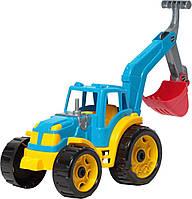Трактор пластиковый с ковшом машинка пластмассовая машина ТехноК, 3435, 004686, фото 1