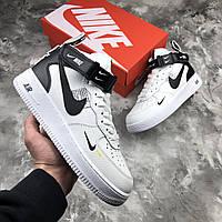 Мужские кроссовки Nike Air Force 1 White\Чоловічі кросівки Найк Аір Форс 1 Білі\Найк Аир Форс 1 Белые