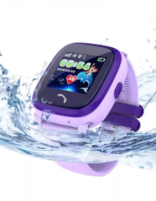 Детские умные часы с gps Smart baby watch DF25 (Q100 aqua) Фиолетовые