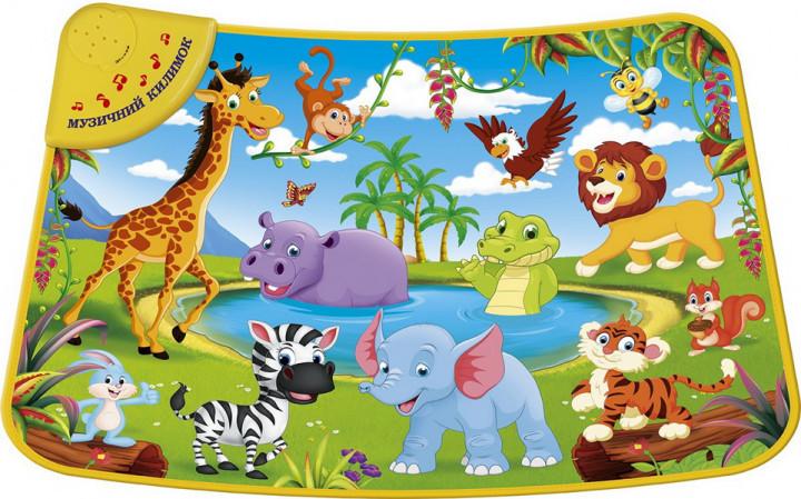 Музыкальный развивающий коврик Країна іграшок Дикие животные (KI-782-U)